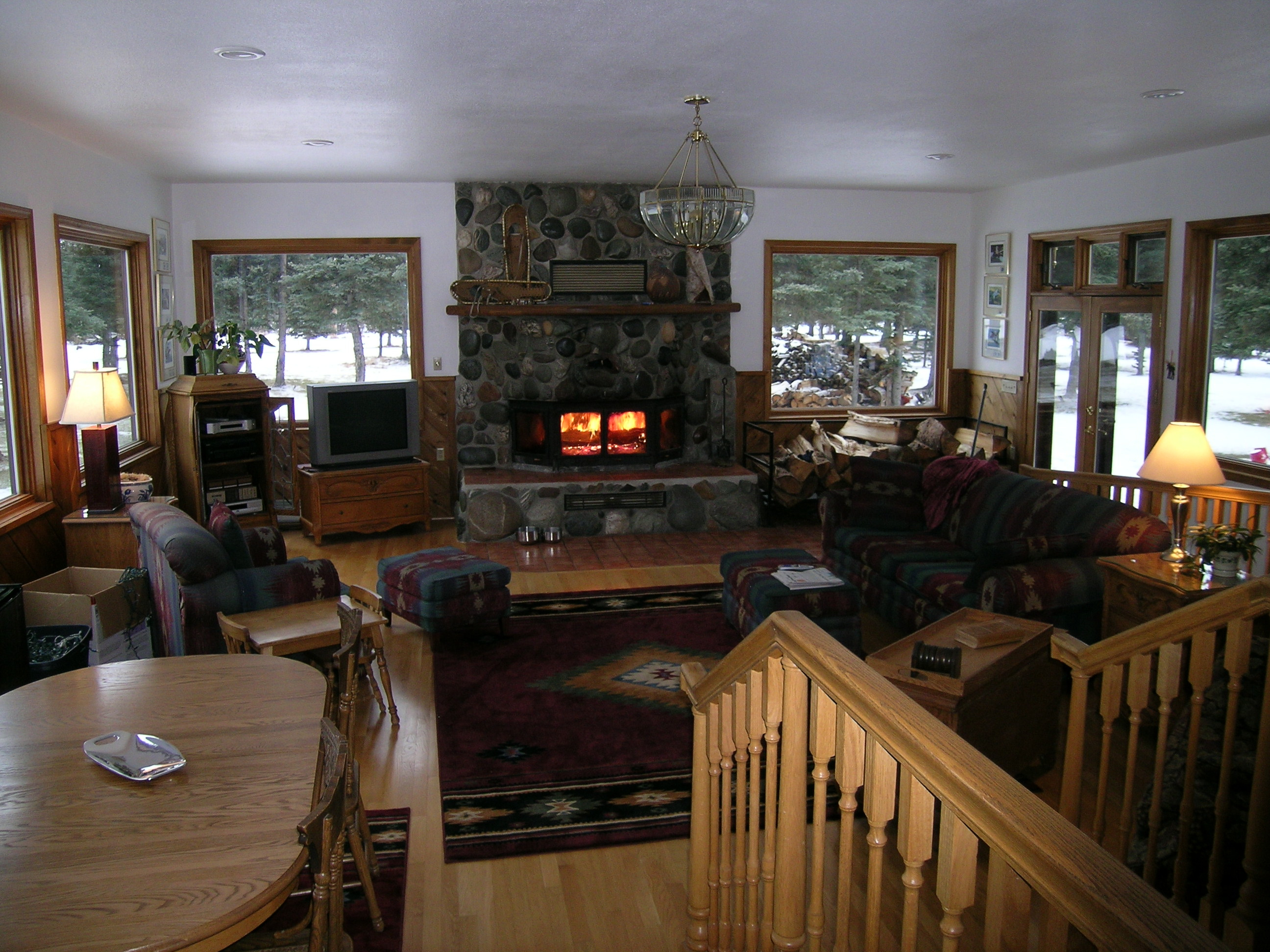 living room Denali Dome Home B&B