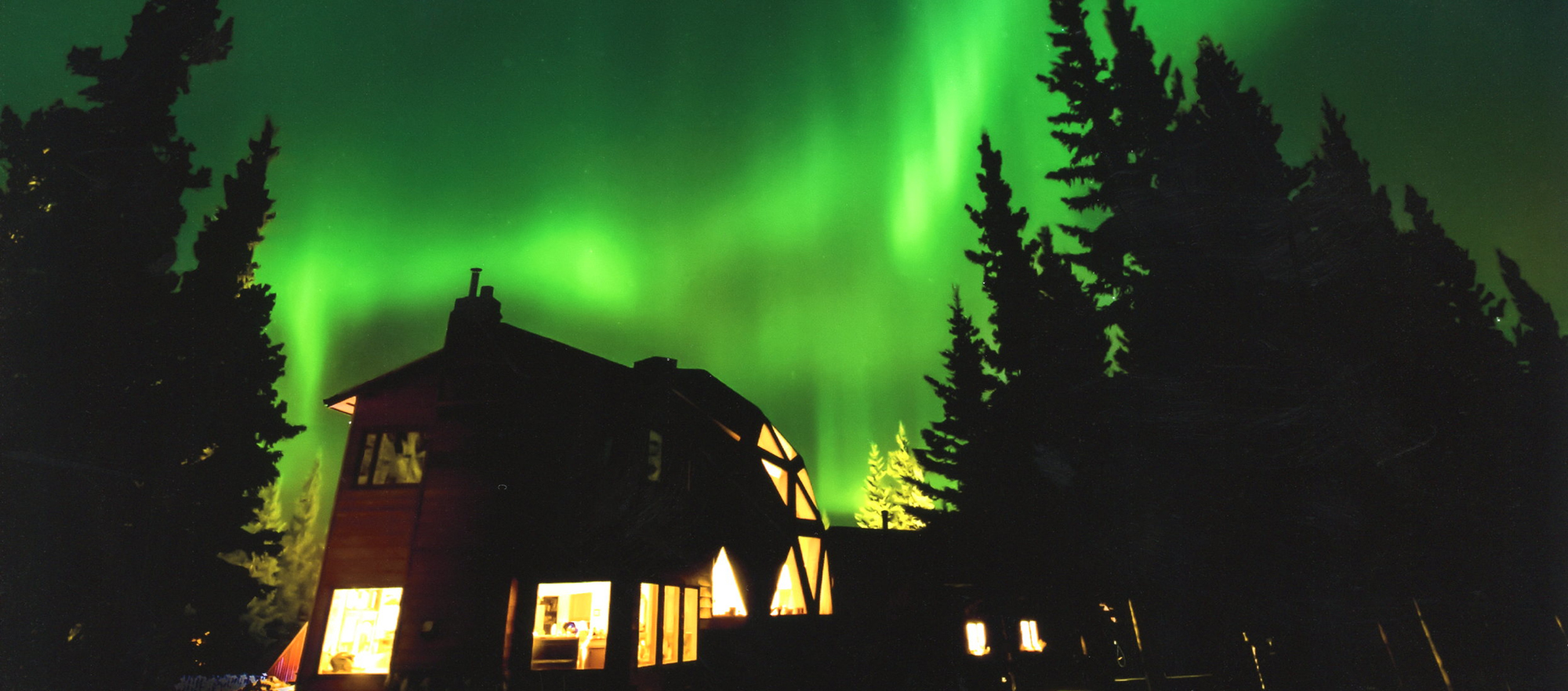 northern lights at our Debai B&B